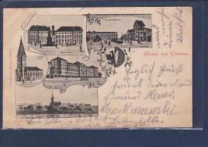 AK Gruss aus Cüstrin 5.Ansichten Freiburger Bahnhof 1899