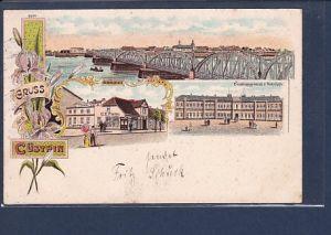 AK Litho Gruss aus Cüstrin 3.Ansichten 1900