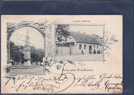 AK Gruss aus Grossbeeren 2.Ansichten 1904