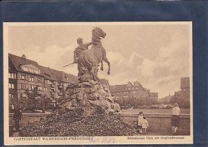 AK Gartenstadt Wilmersdorf-Friedenau Rüdesheimer Platz mit Siegfriedbrunnen 1927