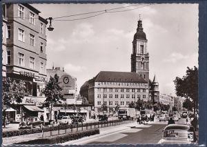 AK Berlin Friedenau Rheinstraße und Rathaus 1960