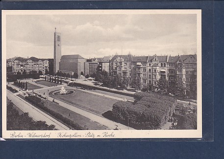 AK Berlin Wilmersdorf Hohenzollern-Platz m. Kirche 1930