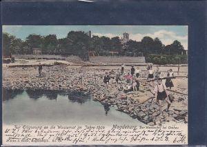 AK Zur Erinnerung an die Wassernot im Jahre 1904 Magdeburg
