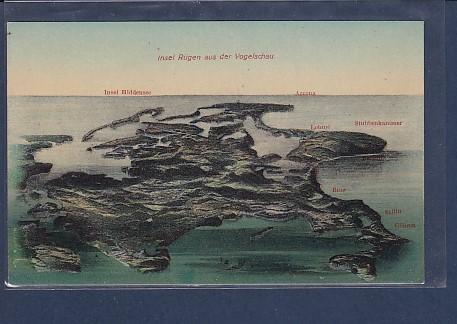 AK Insel Rügen aus der Vogelschau 1920