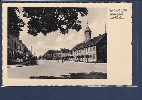 AK Zehdenick Marktplatz mit Rathaus 1936