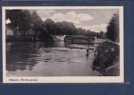 AK Zehdenick, Alte Kampbrücke 1950