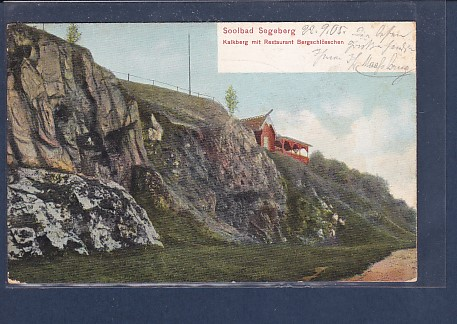 AK Soolbad Segeberg Kalkberg mit Restaurant Bergschlösschen 1905