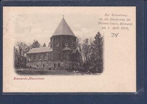 AK Bismarck Mausoleum Erinnerung an die Beisetzung des Fürsten 1899