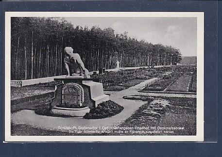AK Tr.-Ueb.-Pl. Grafenwöhr i. Opf. - Gefangenen Friedhof mit Denkmalsockel 1940