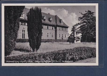 AK Ostseebad Graal Müritz Genesungsheim der VAB Berlin - Gartenansicht 1960