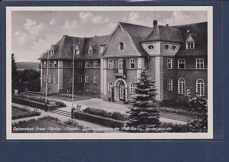 AK Ostseebad Graal Müritz Genesungsheim der VAB Berlin - Vorderansicht 1960