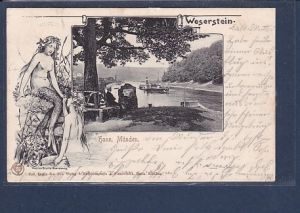 AK Hann. Münden Weserstein 1903