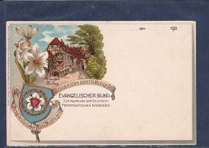 AK Litho Evangelischer Bund Zur Wahrung der Deutsch Protestantischen Interesse Wartburg 1900
