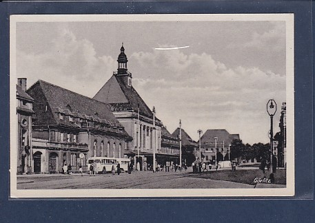 AK Görlitz Bahnhof 1954