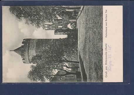 AK Gruß aus Mittenwalde (Mark) Pulverturm und Berliner Tor 1920