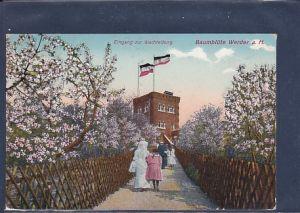 AK Baumblüte Werder a.H. Eingang zur Wachtelburg 1912