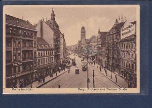 AK Berlin Neukölln Berg-, Richard- und Berliner Straße 1932
