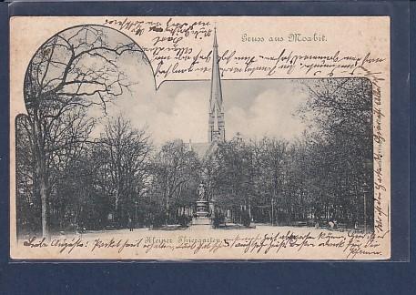 AK Gruss aus Moabit  Kleiner Thiergarten 1900