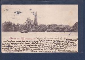 AK Gruss aus Wilmersdorf Kirche 1902