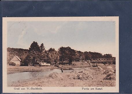 AK Gruß aus W.-Buchholz Partie am Kanal 1922