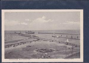 AK Ostseebad Warnemünde Hafeneinfahrt 1930