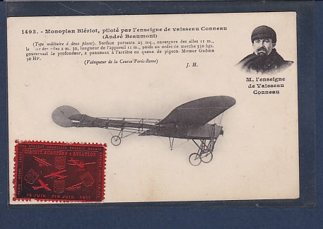AK 1493. Monoplan Bleriot, pilote par lénseigne de vaisseau Conneau 1911