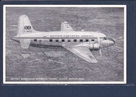 AK British European Airways Viking Class Aeroplane 1930