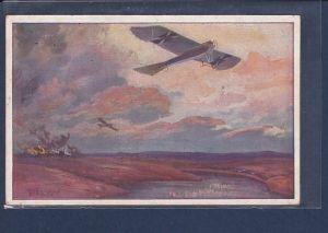 AK Militärtaube auf Erkundungsflug bei den Masuriischen Seen 1915