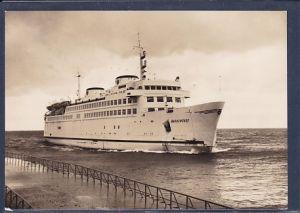 AK Warnemünde MS Warnemünde bei der Einfahrt 1968
