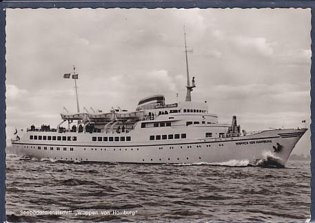 AK Seebäderdienstschiff Wappen von Hamburg 1960