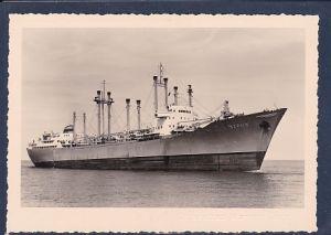 AK Motorfrachtschiff Berlin 10000 tdw Ostseebad Warnemünde 1960