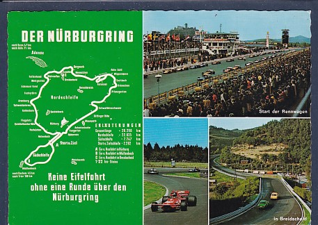 AK Der Nürburgring 4.Ansichten 1970