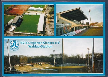 AK SV Stuttgarter Kickers e.V. Waldau Stadion 3.Ansichten 2002