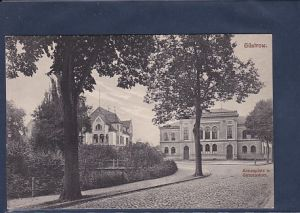 AK Güstrow Annenplatz u. Gymnasium 1900