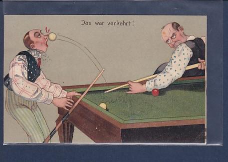 Litho + Präge AK Das war verkehrt! ( Billard) 1908 RAR!!!
