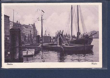 AK Stettin Hafen 1936