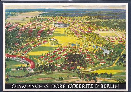 AK Olympisches Dorf Döberitz b. Berlin Werbe Postkarte Nr.4 Olympische Spiele 1936