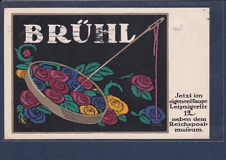 AK Brühl Jetzt im eigenen Hause Leipziger Str. 12 neben dem Reichspostmuseum 1913