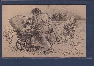 AK Heinrich Zille: Ausfahrt 1920
