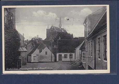 AK Haderslev Prestegade med Domkirken 1941 0