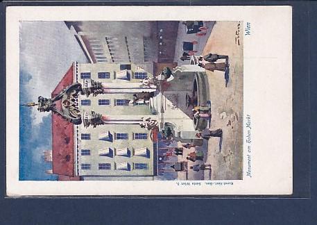 AK Wien Monument am Hohen Markt 1920