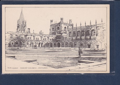 AK Tom Quad Christ Church. Oxford 1930