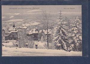 AK Winterbild aus Schreiberhau-Mariental  Blick vom Bahnhof 1930