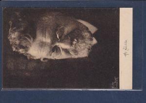 AK Heinrich Zille Bildnisaufnahme von Helmy Hurth 1920