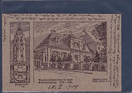 AK Zweihundertjahr Feier der Stadt Charlottenburg Wohnhaus Rauch 1905