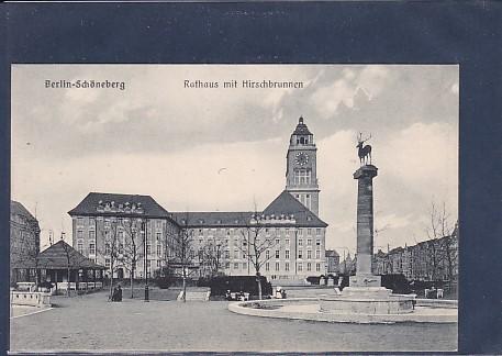 AK Berlin-Schöneberg Rathaus mit Hirschbrunnen 1920