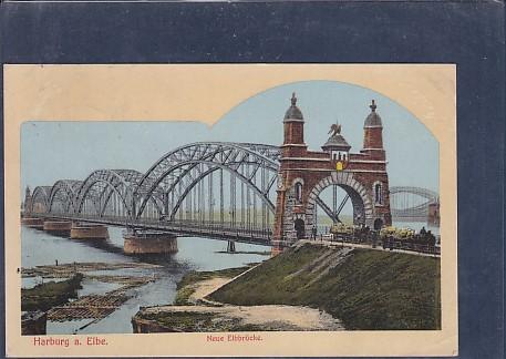 AK Harburg a. Elbe Neue Elbbrücke 1913