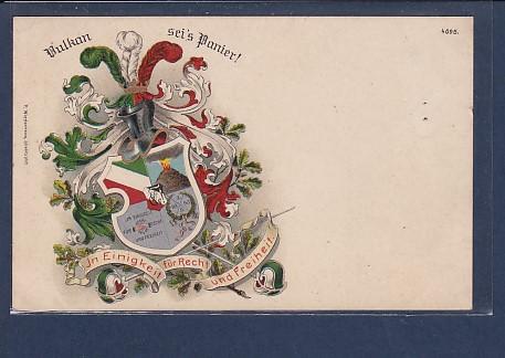 AK Vulkan sei´s Panier In Einigkeit für Recht und Freiheit. 1910