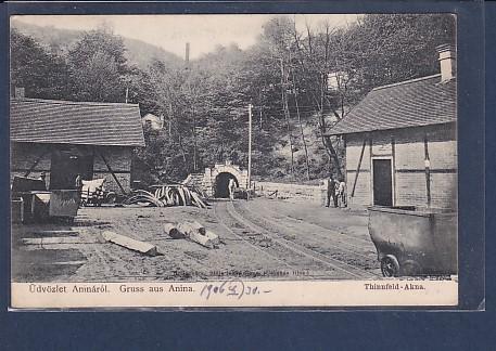 AK Gruss aus Anina Thinnfeld-Akna Rollschütz 1906