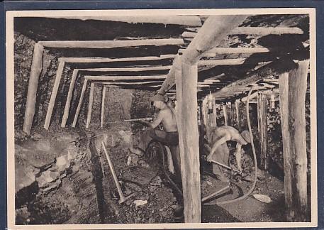 AK RWKS Ruhrkohle Gewinnung der Kohle mittels Abbauhämmer 1940